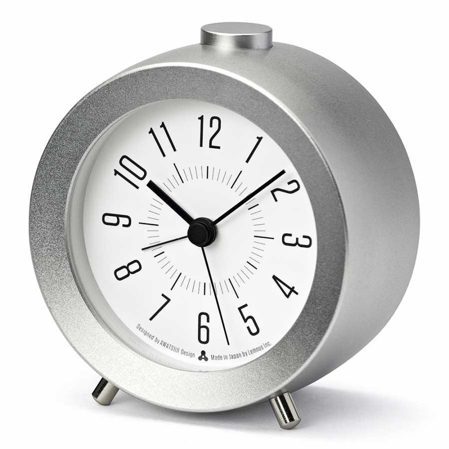 Lemnos Awa Jiji Alarm Clocks - Silver
