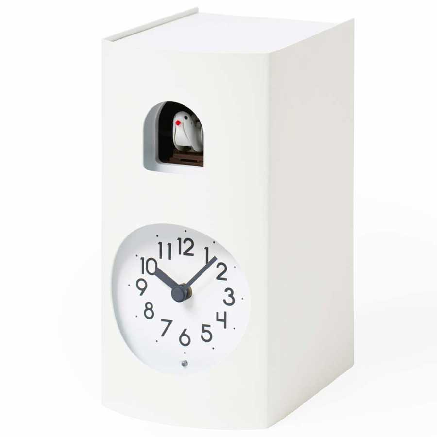 Lemnos Bockoo Clock - White