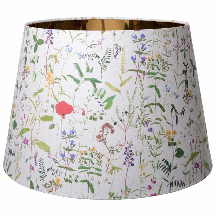 MINDTHEGAP Aquafleur Taupe Cone Floor and Table Lampshades
