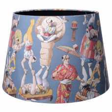 MINDTHEGAP Asian Circus Blue Lamp Shade