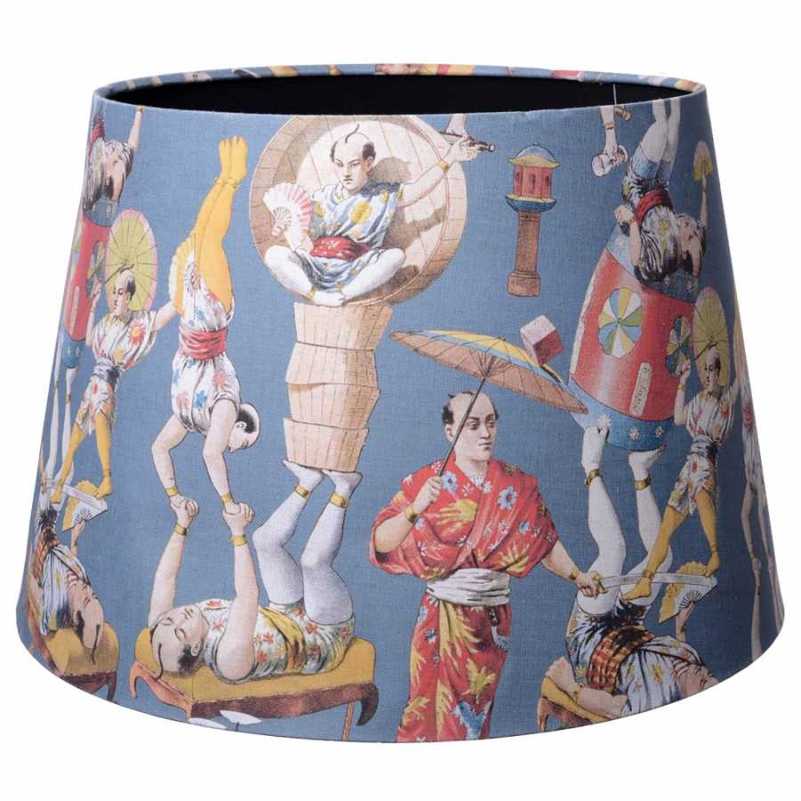 MINDTHEGAP Asian Circus Blue Cone Floor and Table Lampshades