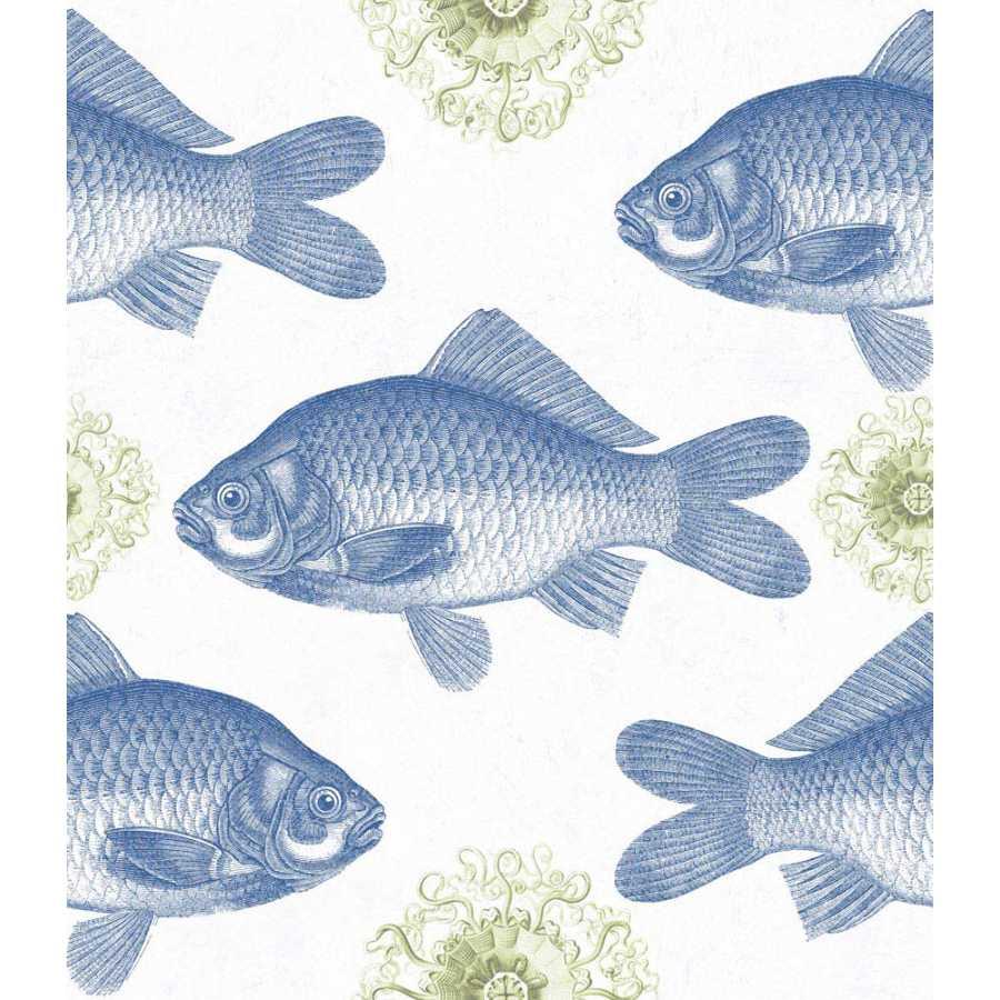 MIND THE GAP Fish Blue Wallpaper