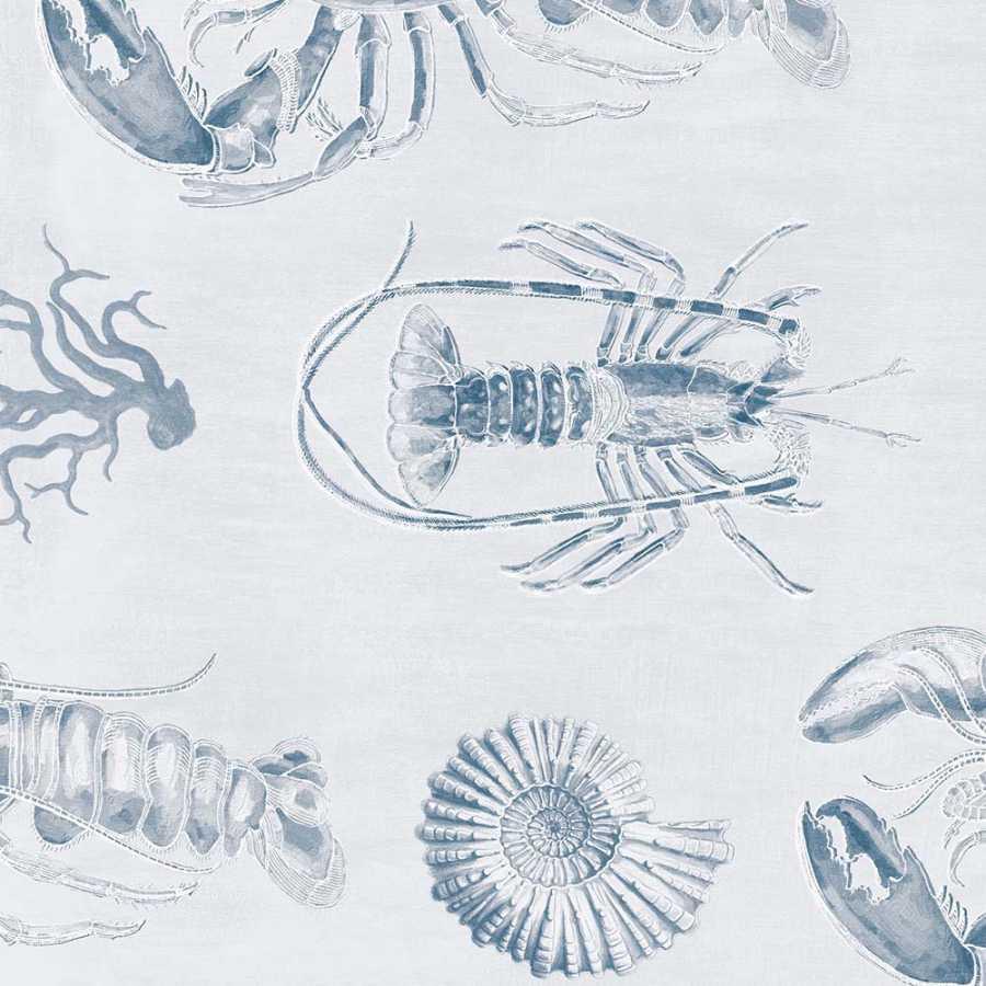 MIND THE GAP Lobster Blue Wallpaper