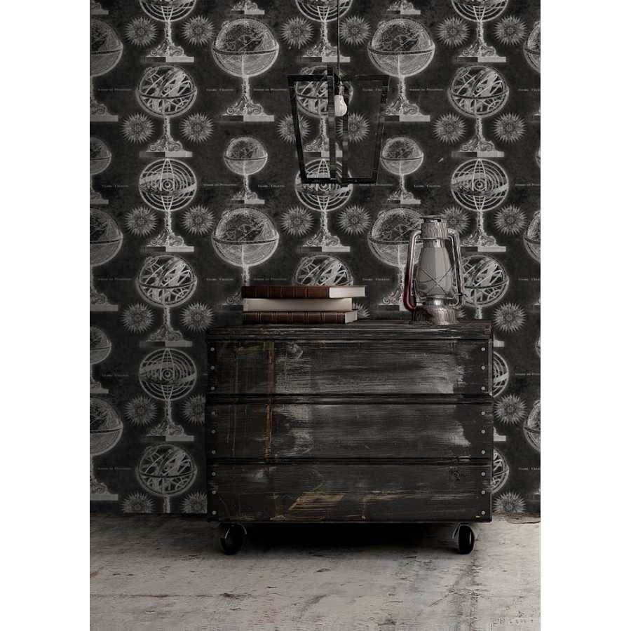 MIND THE GAP Armillary Black Wallpaper