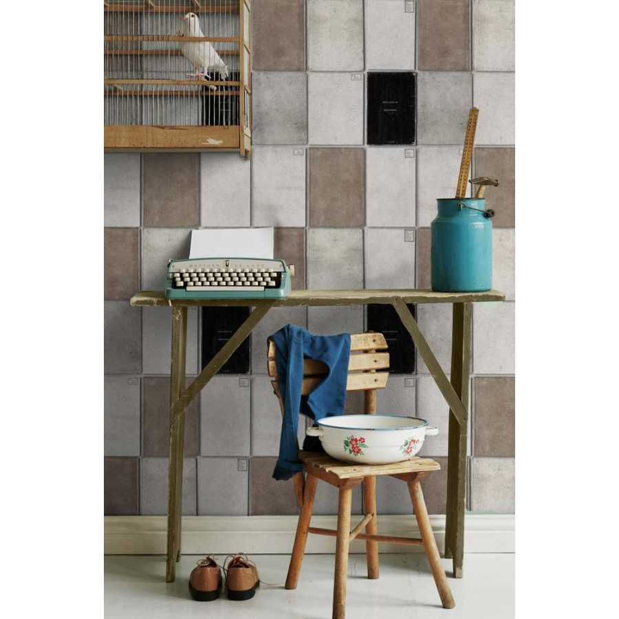 MIND THE GAP Book Covers Neutral Wallpaper