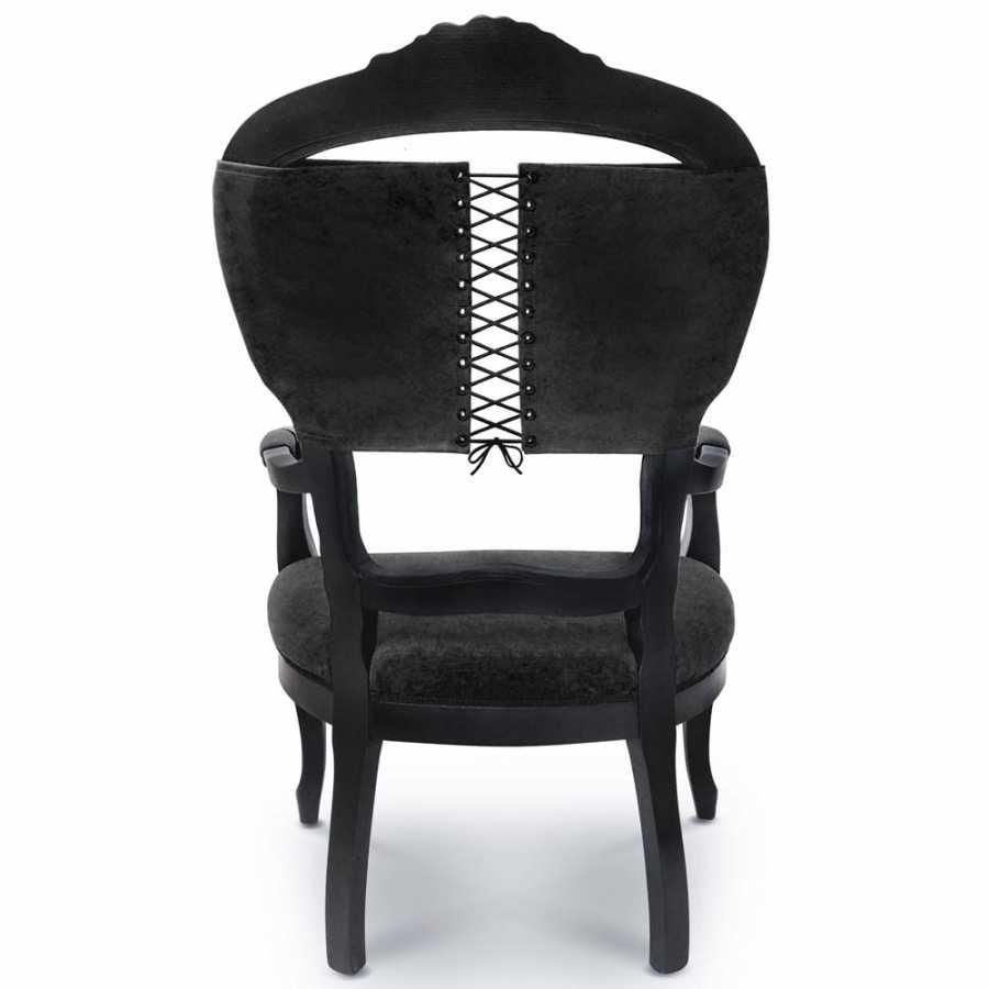 Mineheart Corset Armchairs - Black - Black