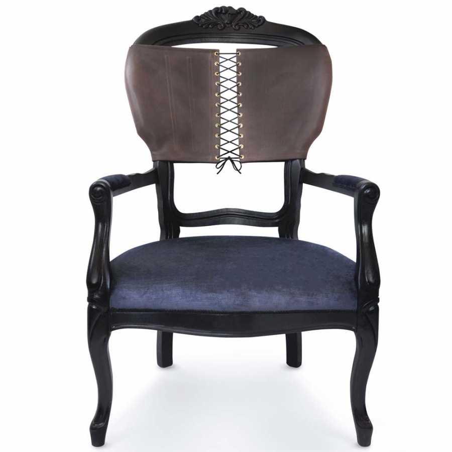 Mineheart Corset Armchairs - Brown - Charcoal