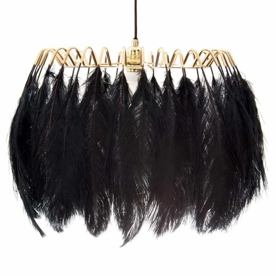 Mineheart Feather Pendant Lights - Black