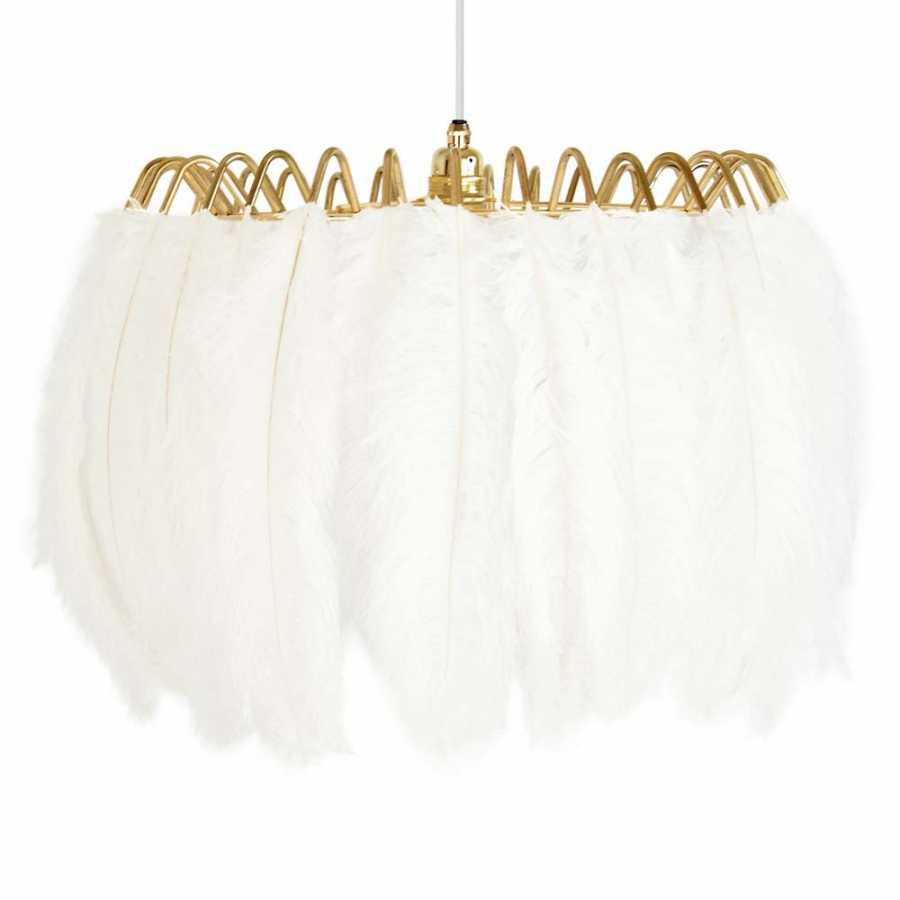 Mineheart Feather Pendant Lights - White