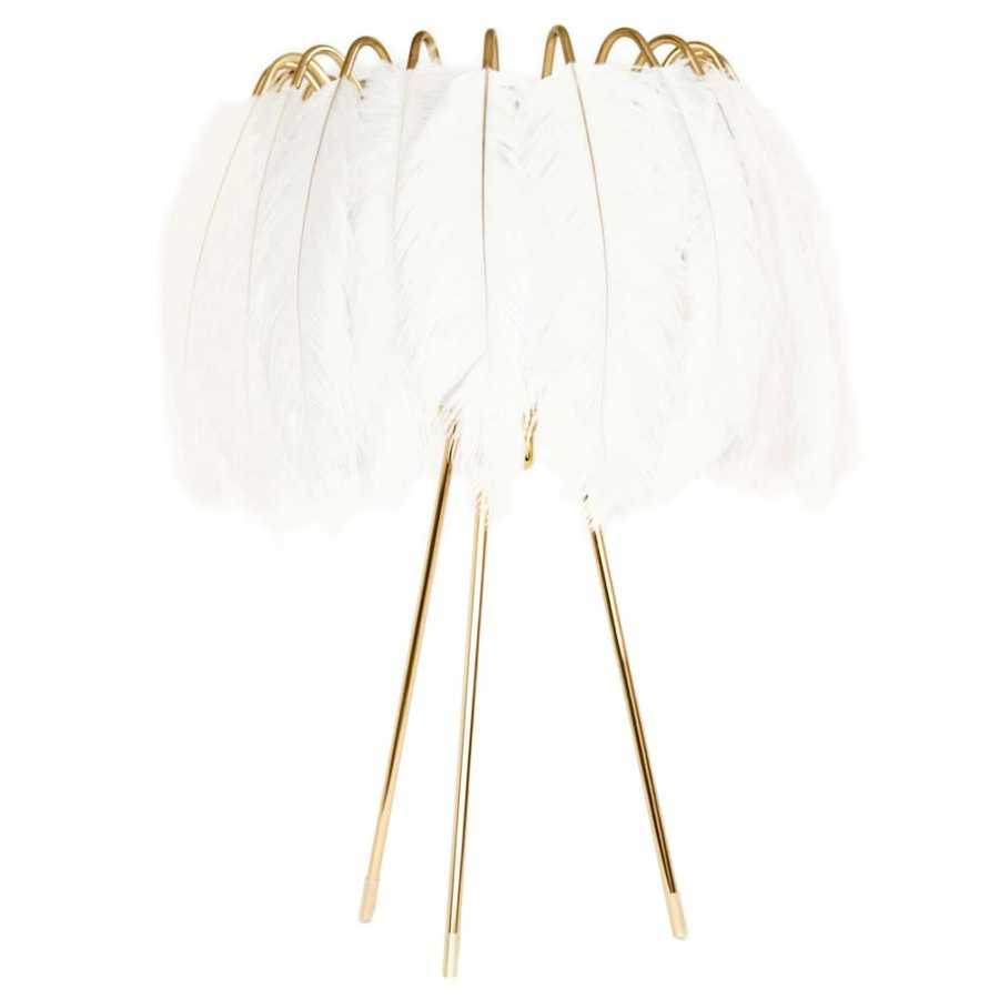 Mineheart Feather Table Lamps - White