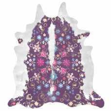 Mineheart Gypsy Cowhide Rug - Purple