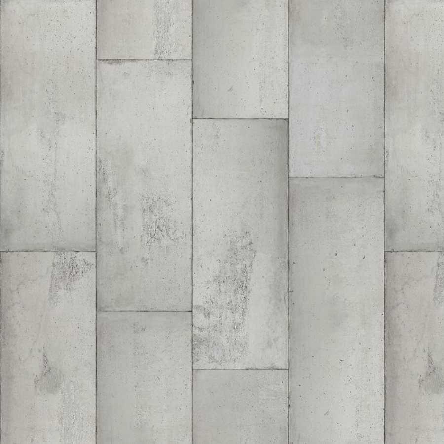 NLXL Concrete Large Grey Tiles CON-01 Wallpaper