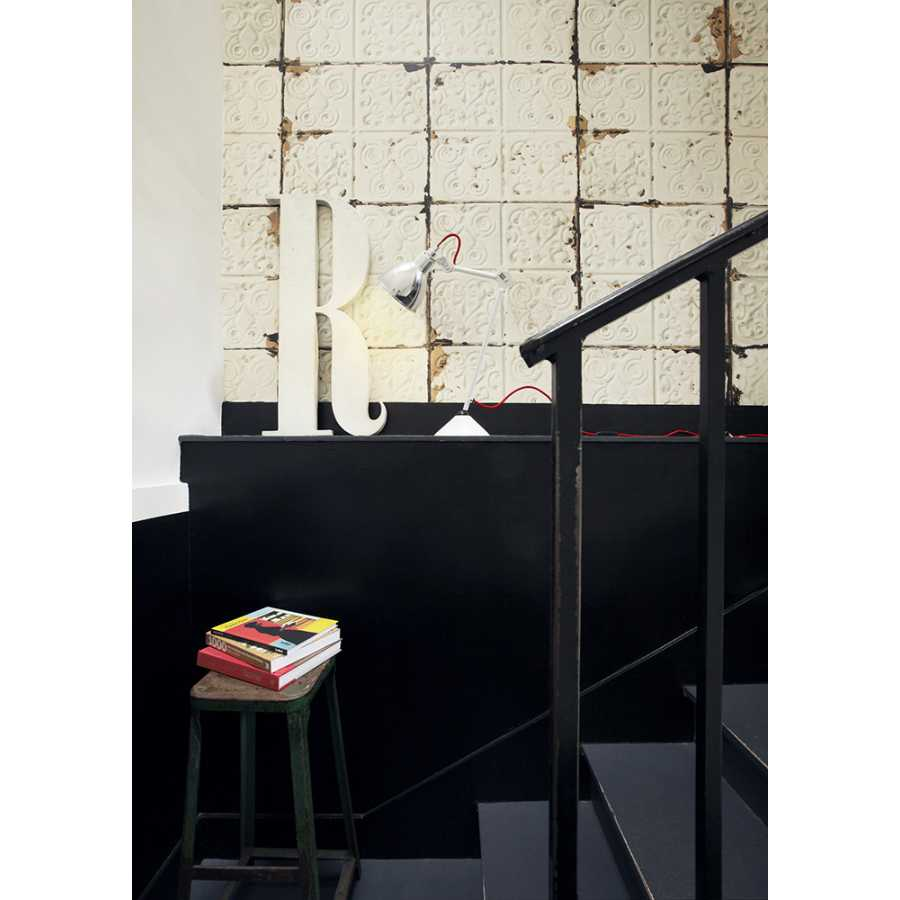 NLXL Brooklyn Tins Large White TIN-02 Wallpaper