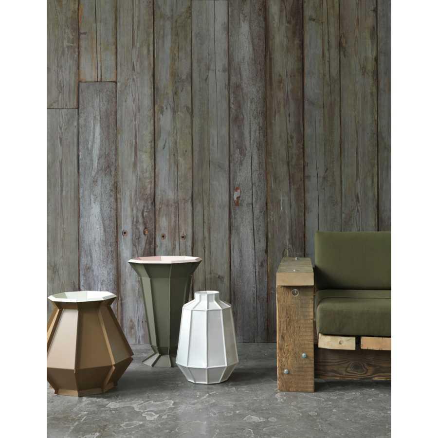 NLXL Scrapwood Grey / Green Beams PHE-14 Wallpaper