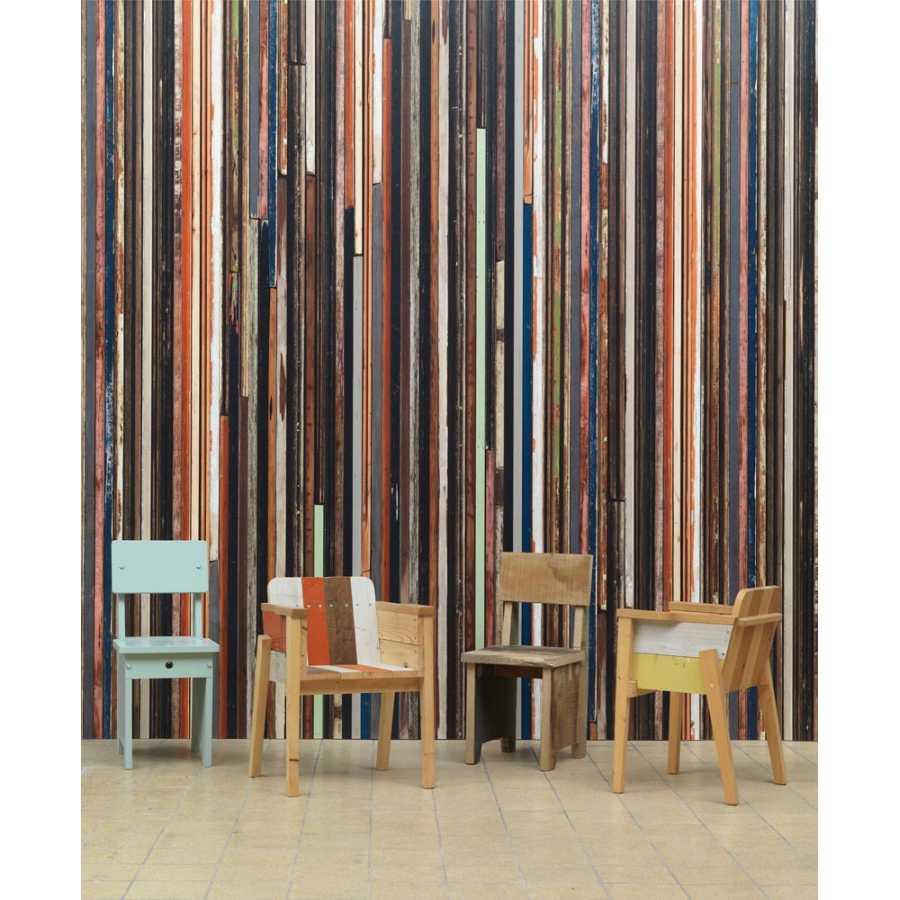 NLXL Scrapwood Coloured Sides PHE-15 Wallpaper
