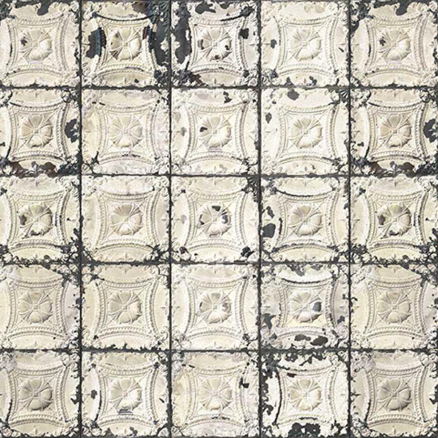 NLXL Brooklyn Tins Large White TIN-01 Wallpaper