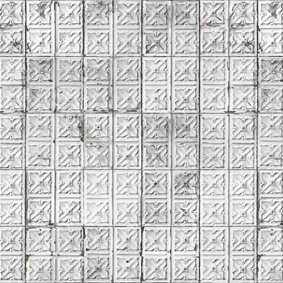 NLXL Brooklyn Tins Large Grey TIN-04 Wallpaper