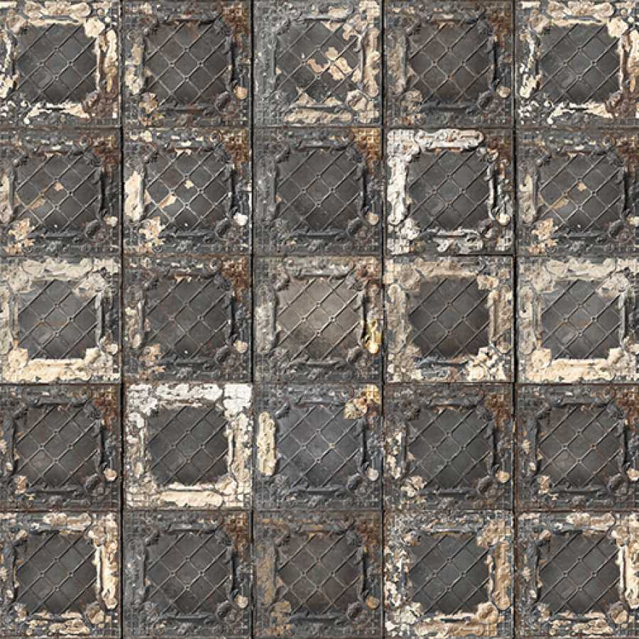 Brooklyn Tins Large Brown TIN-07 Wallpaper