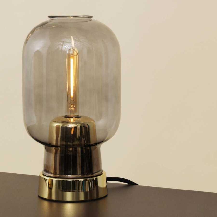 Normann Copenhagen Amp Brass Table Lamp - Smoked