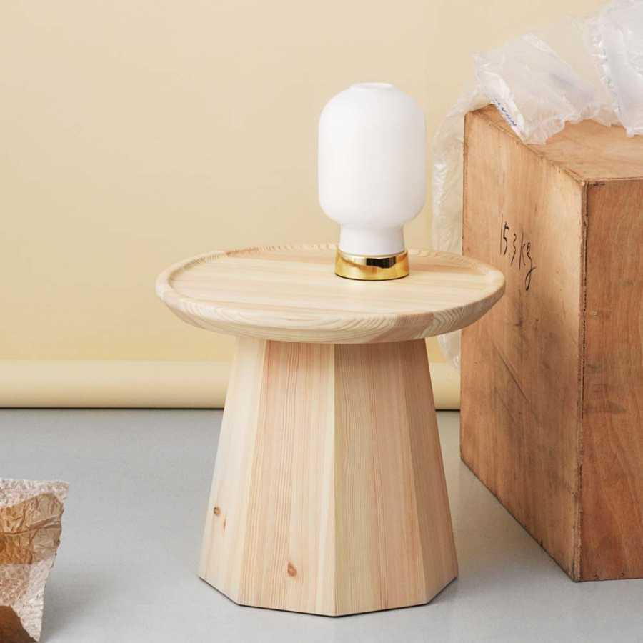 Normann Copenhagen Amp Brass Table Lamp - White