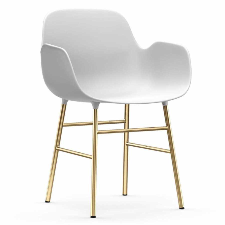 Normann Copenhagen Form Armchair - Brass - White