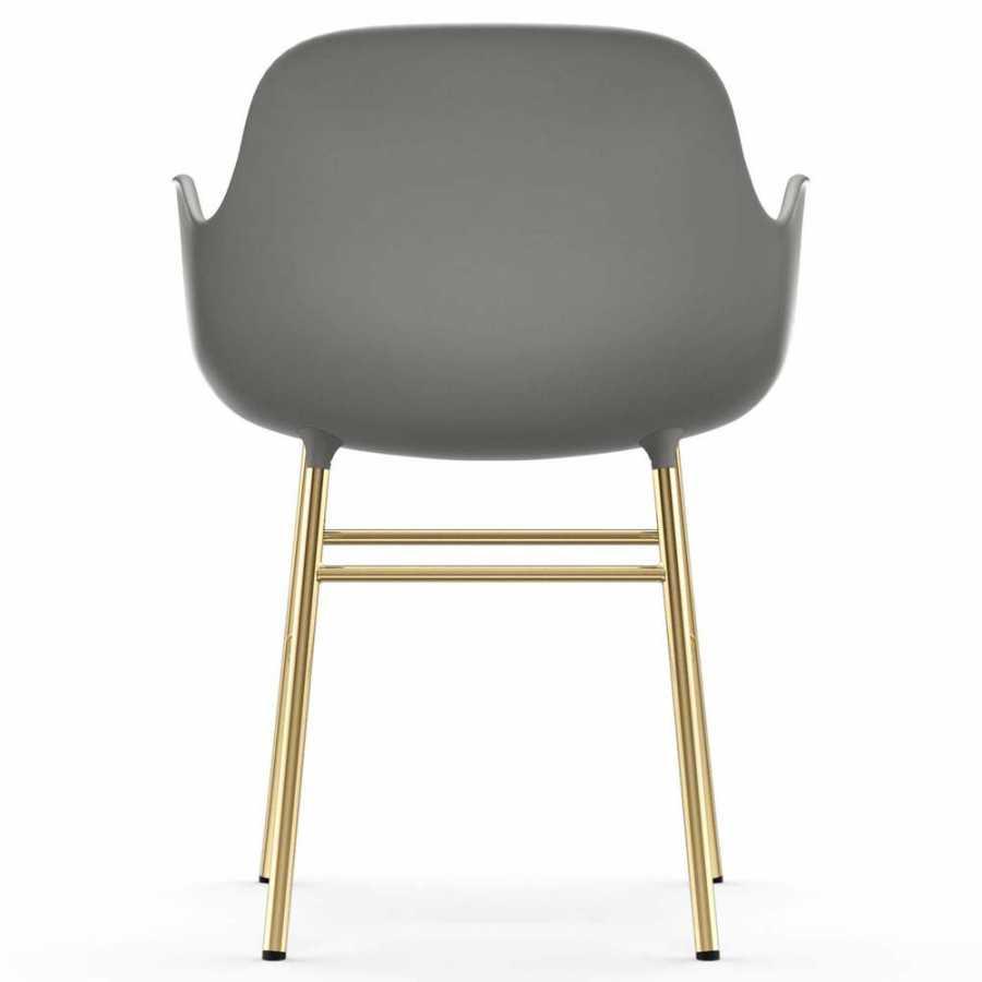 Normann Copenhagen Form Armchair - Brass - Grey