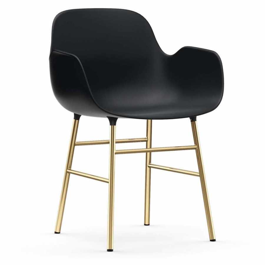 Normann Copenhagen Form Armchair - Brass - Black