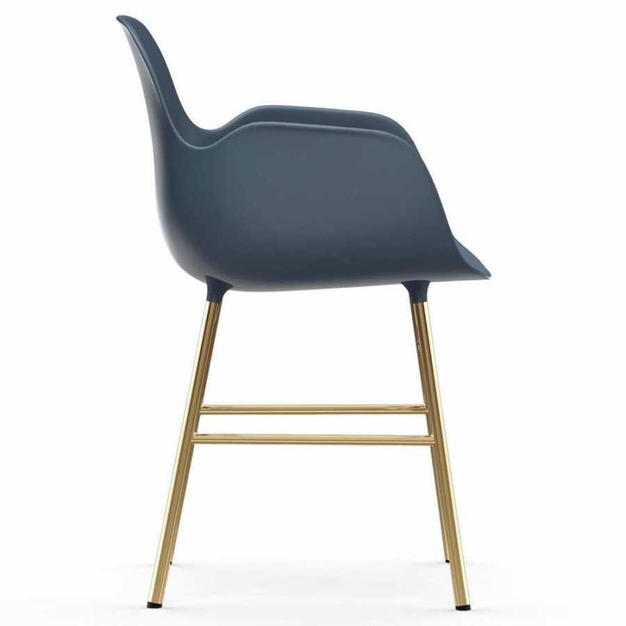 Normann Copenhagen Form Armchair - Brass - Blue