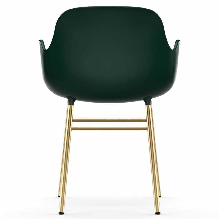 Normann Copenhagen Form Armchair - Brass - Green