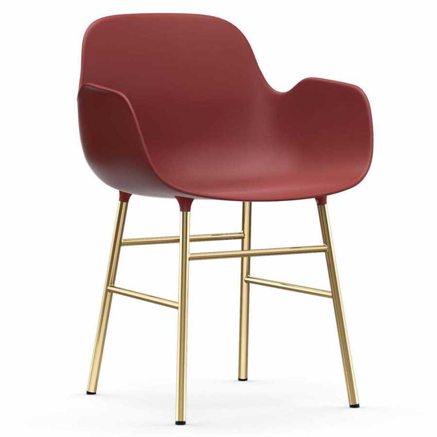 Normann Copenhagen Form Armchair - Brass - Red