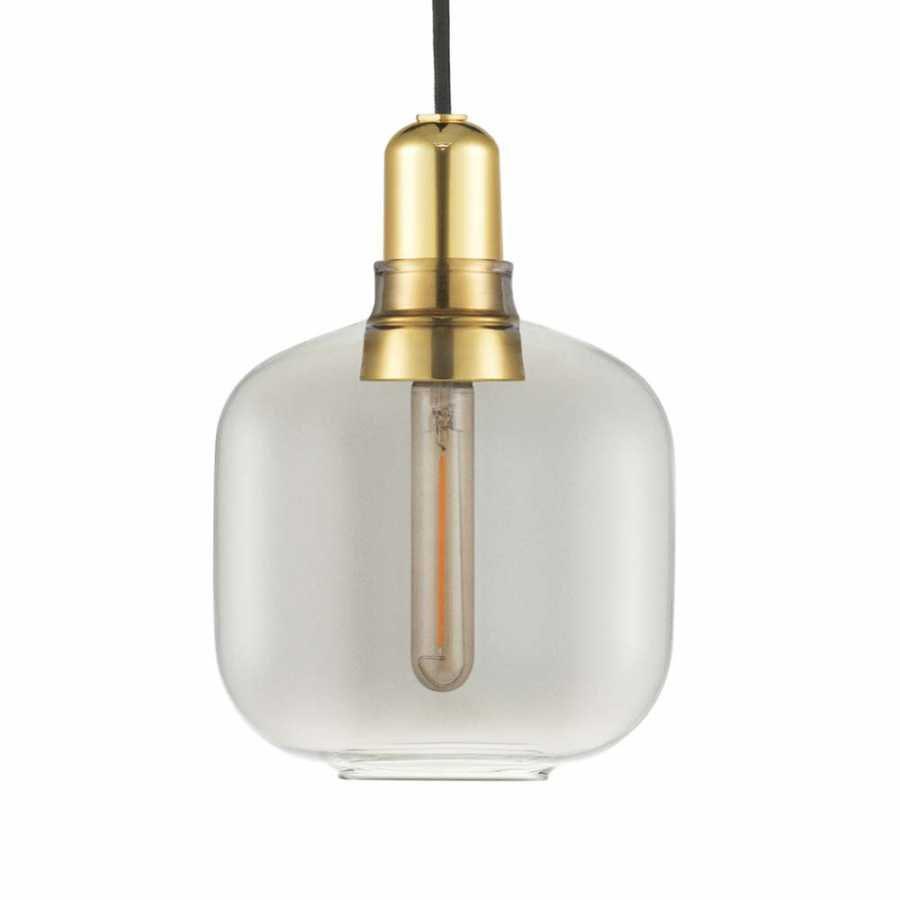 Normann Copenhagen Amp Brass Pendant - Small - Smoked