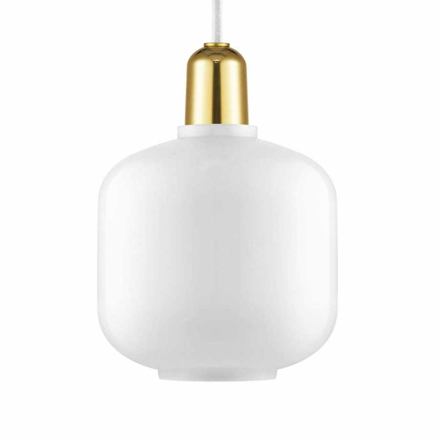Normann Copenhagen Amp Brass Pendant - Small - White