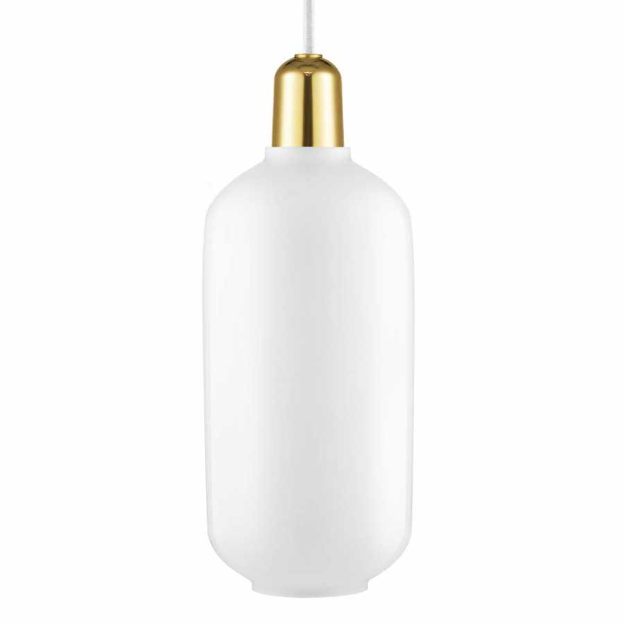 Normann Copenhagen Amp Brass Pendant - Large - White