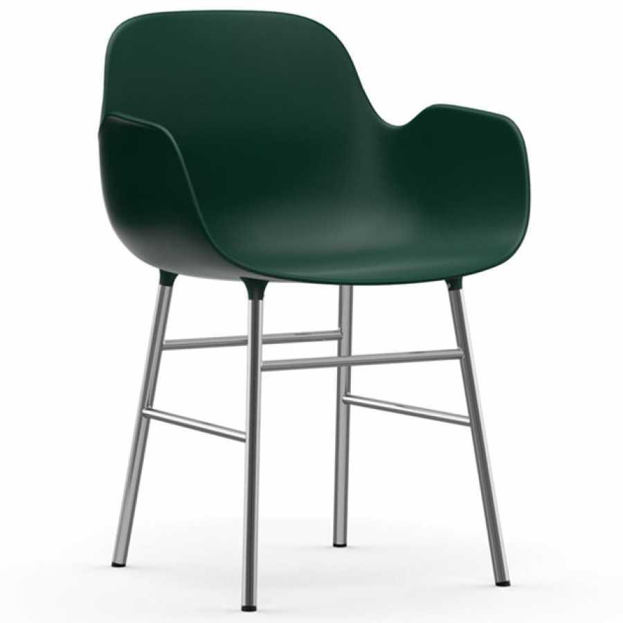 Normann Copenhagen Form Armchair - Chrome - Green