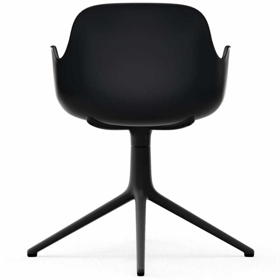 Normann Copenhagen Form Swivel Armchair - Black Aluminium - Black