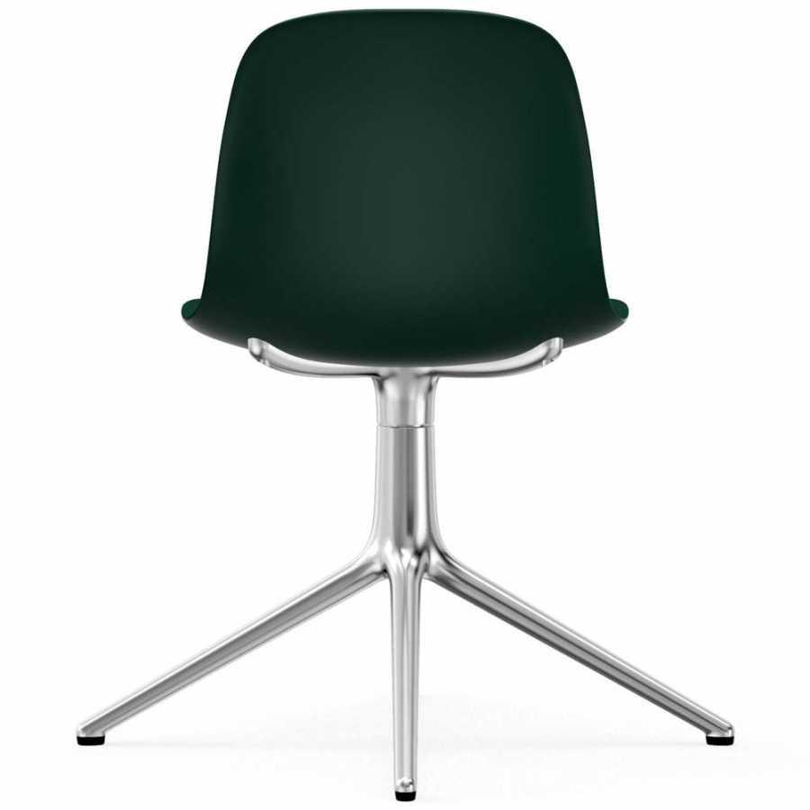 Normann Copenhagen Form Swivel Chair - Aluminium - Green