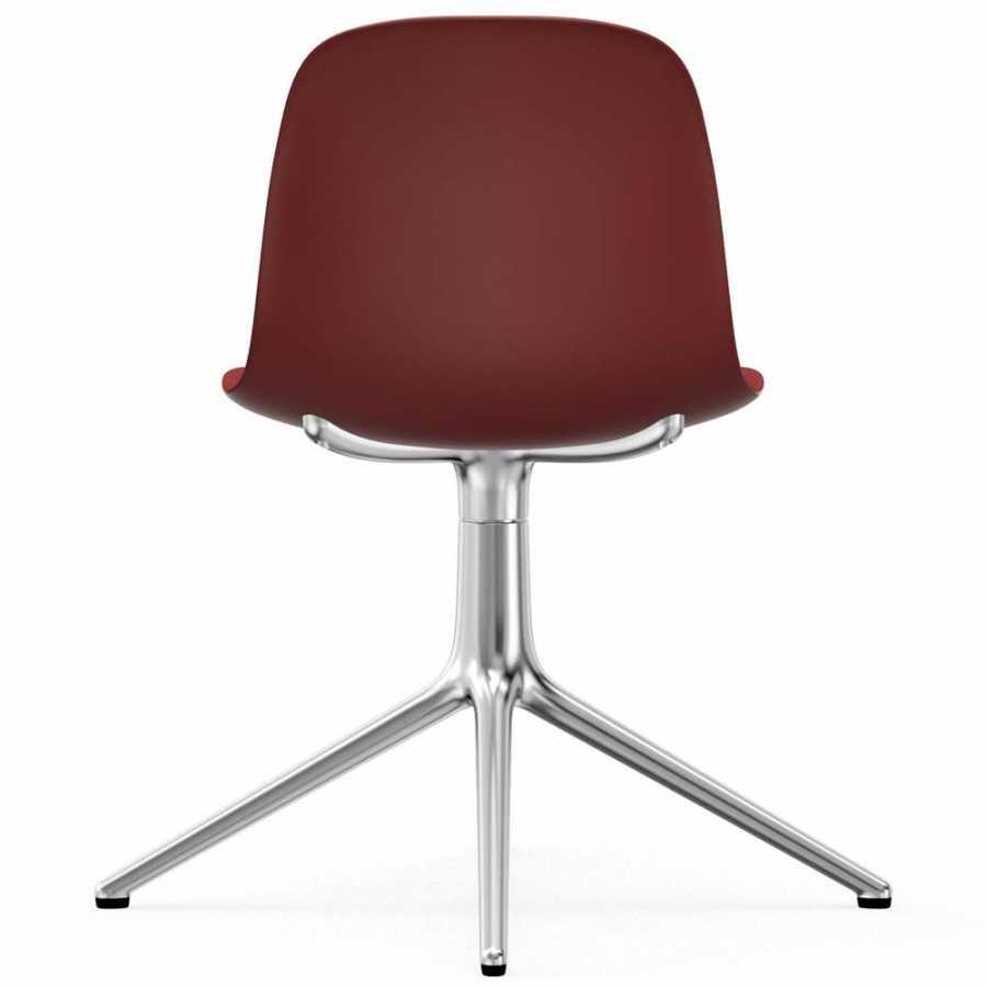 Normann Copenhagen Form Swivel Chair - Aluminium - Red