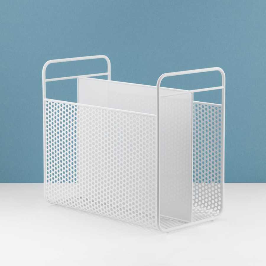 Normann Copenhagen Analog Magazine Racks - White