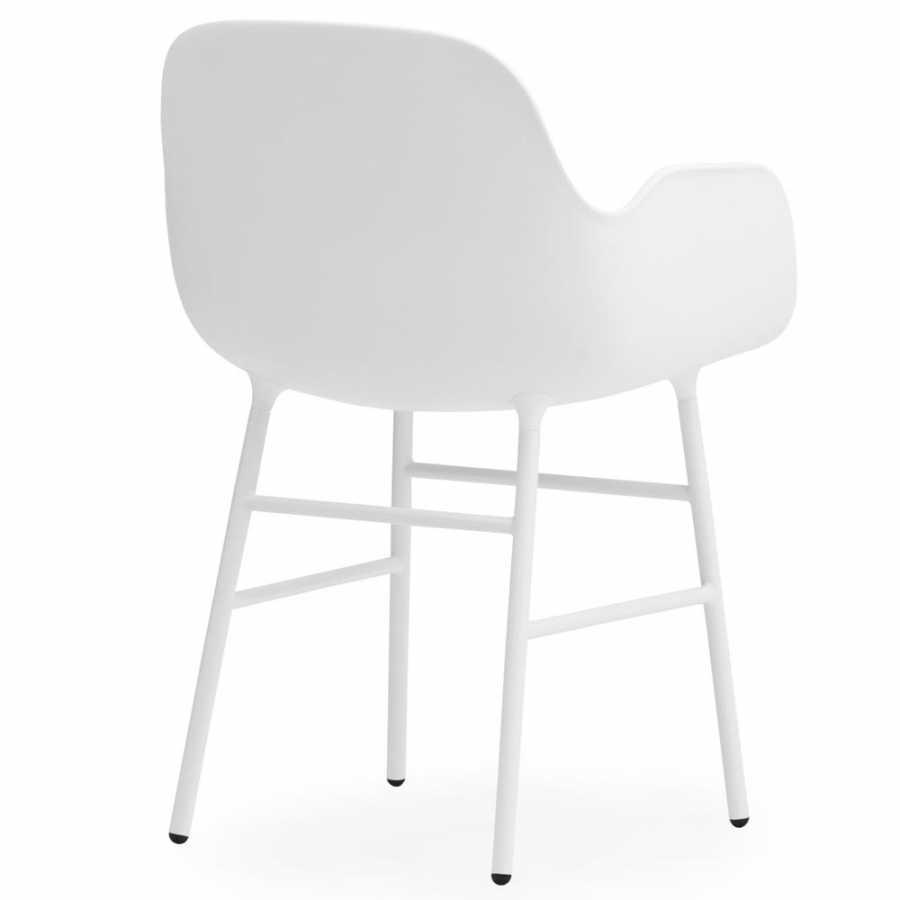 Normann Copenhagen Form Armchair - Steel - White