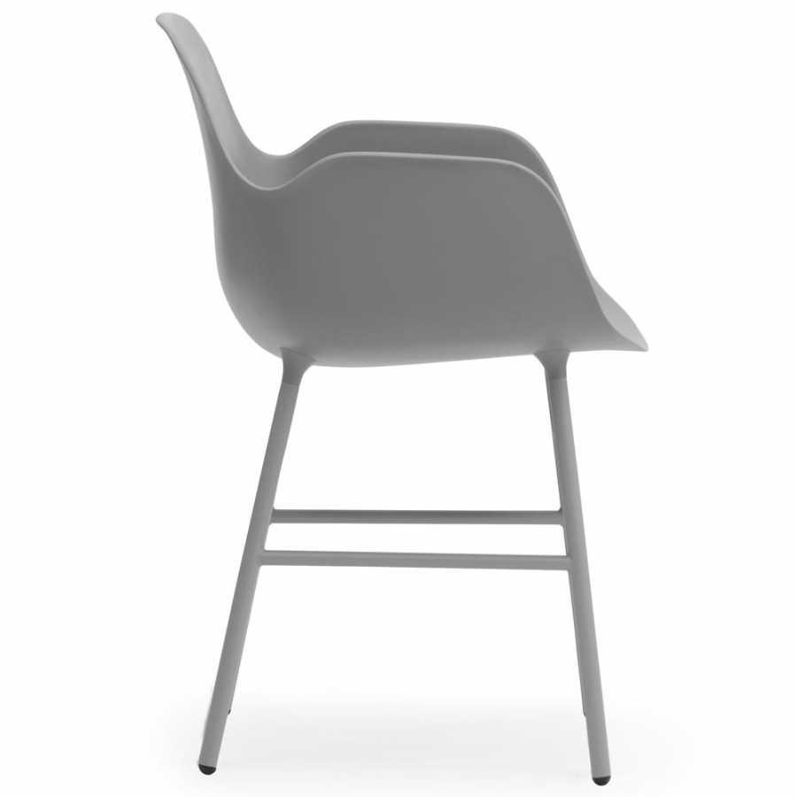 Normann Copenhagen Form Armchair - Steel - Grey