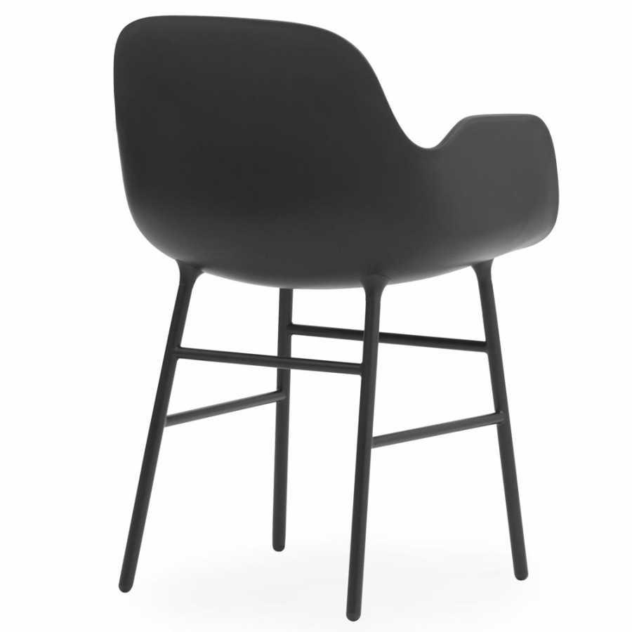 Normann Copenhagen Form Armchair - Steel - Black