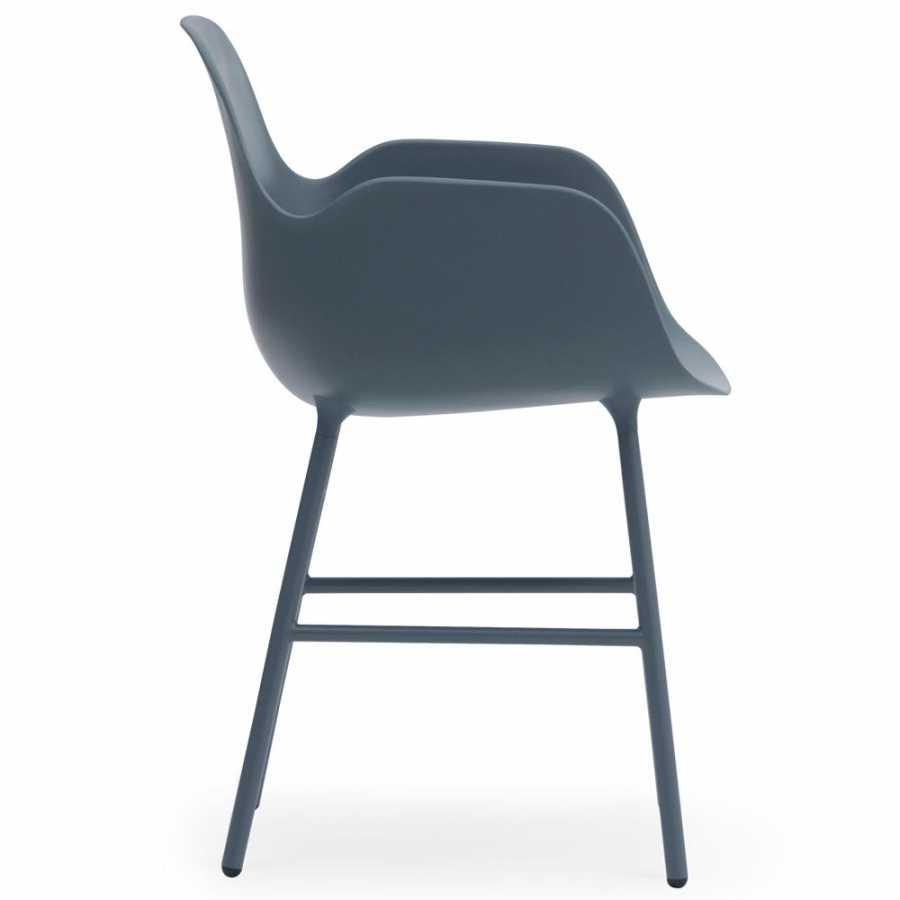 Normann Copenhagen Form Armchair - Steel - Blue