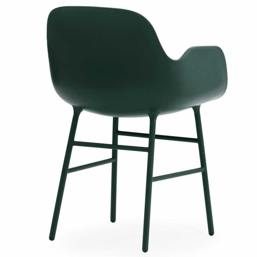 Normann Copenhagen Form Armchair - Steel - Green