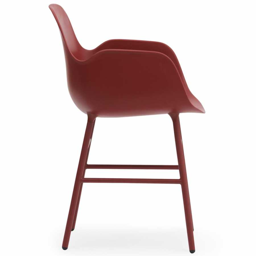 Normann Copenhagen Form Armchair - Steel - Red