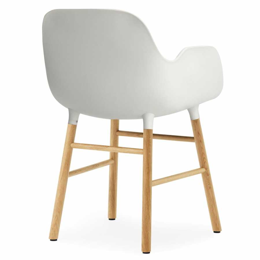 Normann Copenhagen Form Armchair - Oak - White