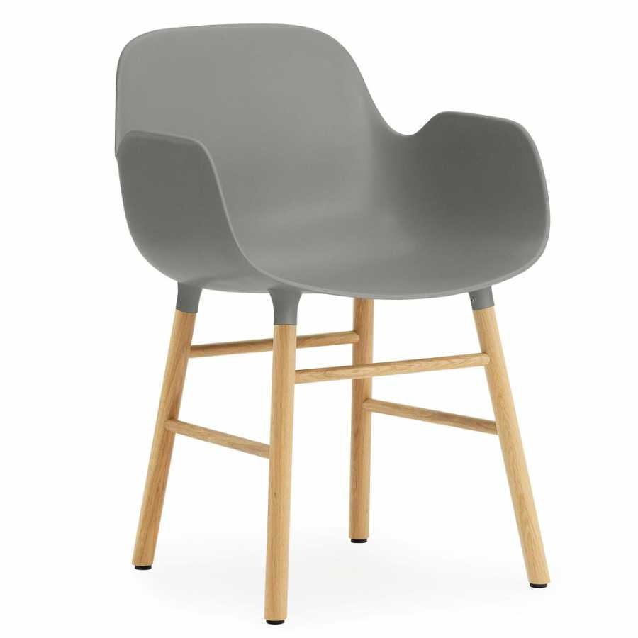 Normann Copenhagen Form Armchair - Oak - Grey
