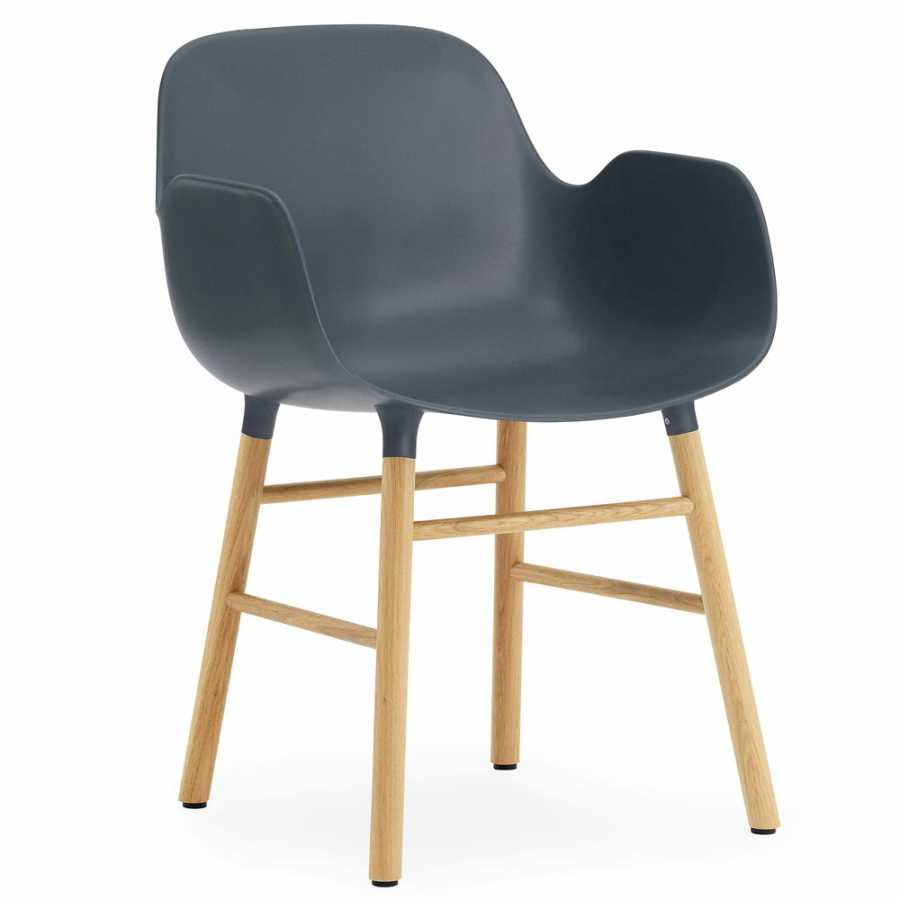 Normann Copenhagen Form Armchair - Oak - Blue