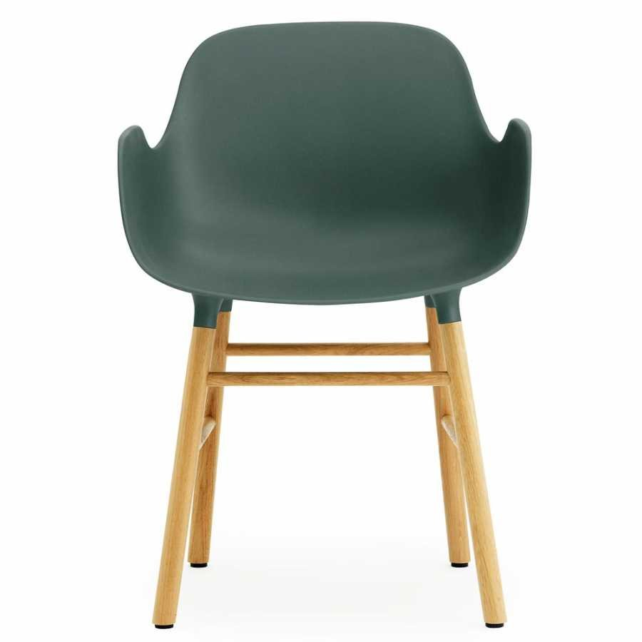 Normann Copenhagen Form Armchair - Oak - Green
