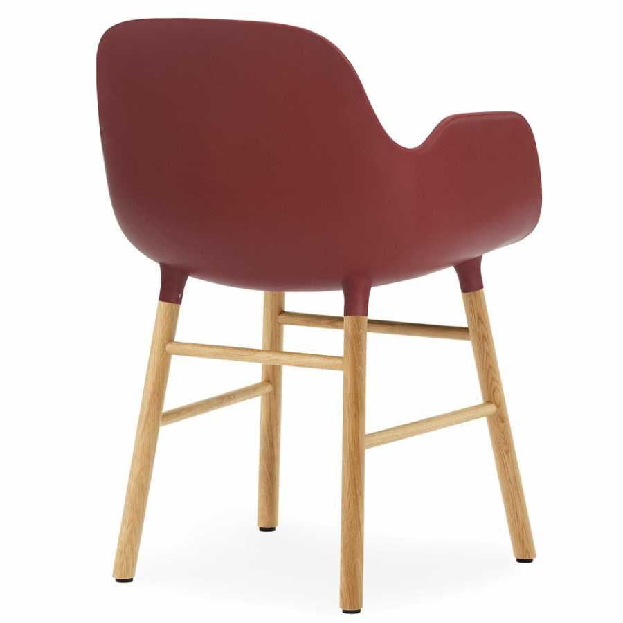 Normann Copenhagen Form Armchair - Oak - Red