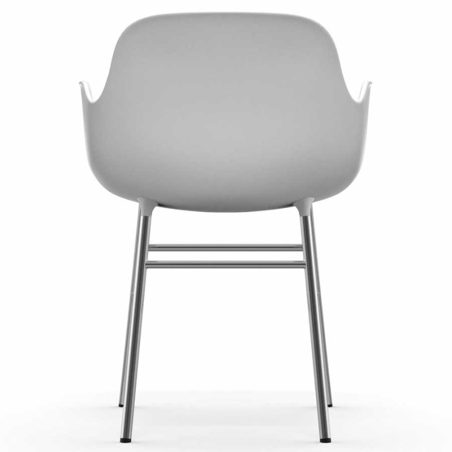 Normann Copenhagen Form Armchair - Chrome - White